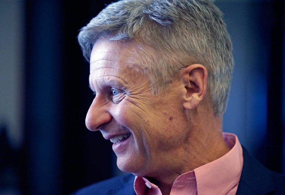 Gary Johnson Libertarian presidential candidate supports is pro-marijuana reform